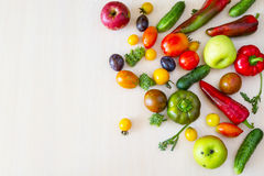 Vegetables and fruit in stock. Royalty Free Stock Images