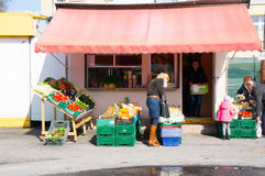 Vegetables and fruit store Royalty Free Stock Photography