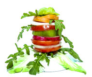 Vegetables fruit vitamin cocktail summer breakfast Health Royalty Free Stock Photo