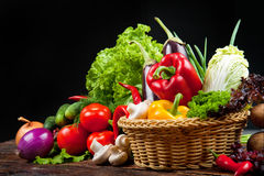 Vegetables and fruits. Healthy and tasty fruits and vegetables Royalty Free Stock Photography