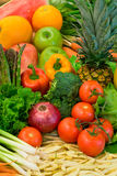 Vegetables and Fruits Stock Images