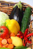 Vegetables and fruits. Fresh fruits and fresh vegetables Royalty Free Stock Photography