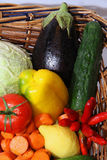 Vegetables and fruits. Fresh fruits and fresh vegetables Stock Photo