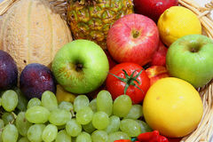 Vegetables and fruits. Fresh fruits and fresh vegetables Royalty Free Stock Images