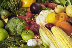 Vegetables & Fruits Stock Photography