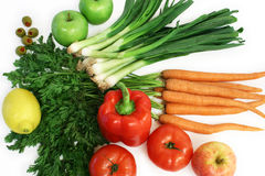 Vegetables and Fruits. Are displayed Royalty Free Stock Image
