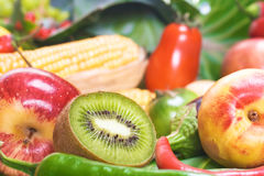 Vegetables & fruits Royalty Free Stock Image