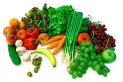 Vegetables and Fruits Arrangement Stock Image
