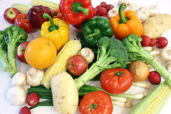 Vegetables and Fruits Arrangement. Vegetables and fruits are displayed Royalty Free Stock Image