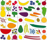 Vegetables Fruits Assortment White Royalty Free Stock Photo