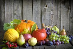 Vegetables and fruits in autumn Stock Photo