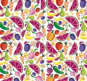 Vegetables and fruits background Stock Images