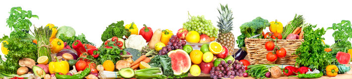 Vegetables and fruits background stock image