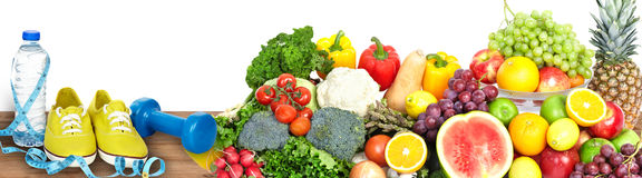 Vegetables and fruits background royalty free stock photos