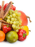 Vegetables and fruits in a basket Stock Image