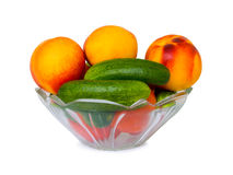 Vegetables and fruits in bowl Royalty Free Stock Images
