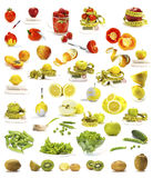 Vegetables and fruits collection Royalty Free Stock Photography
