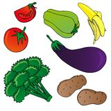 Vegetables and fruits collection 01 Royalty Free Stock Photo