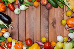 Vegetables and fruits composition Royalty Free Stock Image