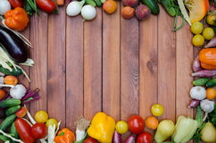 Vegetables and fruits composition Stock Images