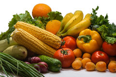 Vegetables and fruits group Royalty Free Stock Images