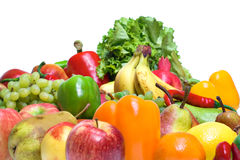 Vegetables & fruits isolated Royalty Free Stock Photo