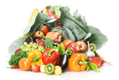 Vegetables & Fruits Isolated Royalty Free Stock Photography