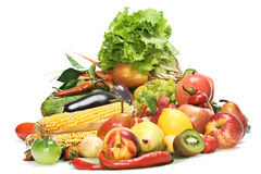 Vegetables & Fruits Isolated Stock Photography