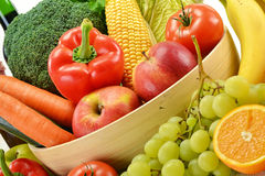 Vegetables and fruits in a kitchen  dish Stock Photos