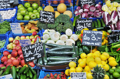 Vegetables and fruits on the market Royalty Free Stock Image