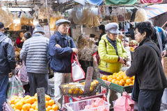Vegetables and fruits market Stock Photography