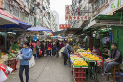 Vegetables and fruits market Royalty Free Stock Photo