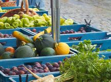 Vegetables and fruits on market Royalty Free Stock Photography