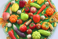 Vegetables and fruits model Royalty Free Stock Image