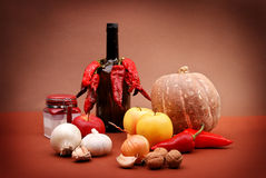 Vegetables, fruits and other foodstuffs. Stock Photography