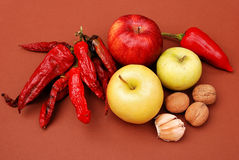 Vegetables, fruits and other foodstuffs. Royalty Free Stock Photography