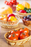 Vegetables, fruits plums, apples, pumpkins, peppers, tomatoes Royalty Free Stock Photo