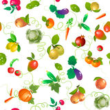 Vegetables and fruits seamless  pattern Stock Photography
