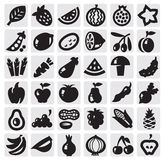 Vegetables and fruits set Stock Photography