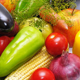 Vegetables and fruits Stock Photos