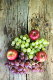 Vegetables and fruits. On the wooden floor Stock Photo