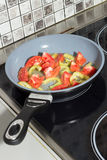 Vegetables in frying pan Royalty Free Stock Photo
