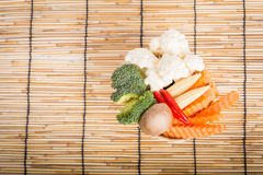Vegetables full the basket royalty free stock photography