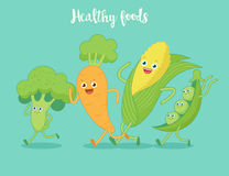 Vegetables fun run. Stock Photo