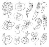 Vegetables. Funny cartoon character Stock Photo