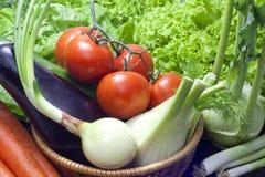 Vegetables in the garden Stock Photos