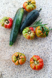 Vegetables from garden Stock Images