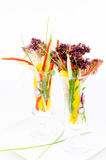 Vegetables in glass Royalty Free Stock Photo