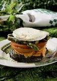 Vegetables with goat cheese Royalty Free Stock Image