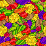 Vegetables graphic art abstract color seamless pattern illustration Stock Photography